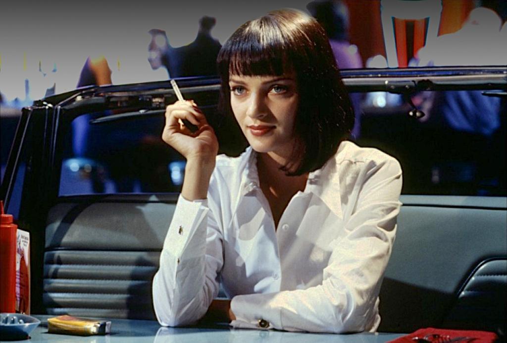 Uma Thurman in Quentin Tarantino's Pulp Fiction